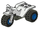 Part No: 30187c03  Name: Tricycle Complete Assembly with Dark Gray Chassis & Blue Wheels