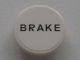 Part No: 30261pb011  Name: Road Sign Clip-on 2 x 2 Round with Black 'BRAKE' on White Background Pattern (Sticker) - Set 8672