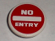 Part No: 30261pb015  Name: Road Sign Clip-on 2 x 2 Round with 'NO ENTRY' Thick Pattern (Sticker) - Tiny Turbos
