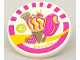 Part No: 30261pb023  Name: Road Sign Clip-on 2 x 2 Round with Ice Cream Pattern