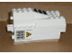 Part No: 30351pb02c01  Name: Electric, Light & Sound Rocket Engine, Battery Box with White Cover with Yellow Triangle and Vents Pattern both sides (Stickers) - Set 6456