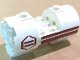 Part No: 30360pb01R  Name: Cylinder 3 x 6 x 2 2/3 Horizontal with Dark Red Stripes and Hexagon Pattern Model Right (Stickers) - Set 8085