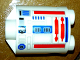 Part No: 30361pb017  Name: Brick, Round 2 x 2 x 2 Robot Body with Red Lines and Blue Pattern (R5-D8 / R5-D4)