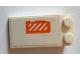 Part No: 30363pb034  Name: Slope 18 4 x 2 with Worn Orange and White Danger Stripes Pattern (Sticker) - Set 75144