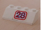 Part No: 3037pb010  Name: Slope 45 2 x 4 with '28' Pattern (Sticker) - Set 5521
