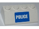 Part No: 3037pb020  Name: Slope 45 2 x 4 with White 'POLICE' on Blue Background Narrow Pattern (Sticker) - Set 7285