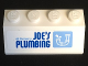 Part No: 3037pb036  Name: Slope 45 2 x 4 with Blue 'Octan's JOE'S PLUMBING' and Drainpipe Pattern (Sticker) - Set 70811