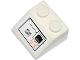 Part No: 3039pb077L  Name: Slope 45 2 x 2 with SW Snowspeeder Vents and Orange Alien Characters, Black Outline Pattern Model Left Side (Sticker) - Set 75049