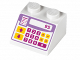 Part No: 3039pb092  Name: Slope 45 2 x 2 with Pink, Purple and Yellow Cash Register Pattern