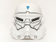 Part No: 30408pb04  Name: Minifigure, Headgear Helmet SW Stormtrooper, 2 Chin Holes, Special Forces Commander Pattern