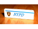 Part No: 30413pb001L  Name: Panel 1 x 4 x 1 with 'NYPD' and Badge Left Pattern (Sticker) - Set 1376