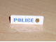 Part No: 30413pb002R  Name: Panel 1 x 4 x 1 with Blue 'POLICE' with World City Gold Police Badge on Right Pattern (Sticker)