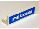 Part No: 30413pb020  Name: Panel 1 x 4 x 1 with White 'POLIZEI' on Blue Background Pattern (Sticker) - Set 7236-2
