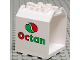 Part No: 30639pb02  Name: Container, Box Open Ended 4 x 4 x 4 with 1 hinge finger each end, with Octan Logo Pattern