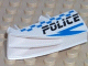 Part No: 30647pb01  Name: Vehicle, Fairing 1 x 4 Side Flaring Intake with Two Pins and Police Blue Checkered Pattern Left