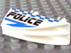 Part No: 30647pb02  Name: Vehicle, Fairing 1 x 4 Side Flaring Intake with Two Pins and Police Blue Checkered Pattern Right