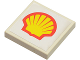 Part No: 3068bpb0150  Name: Tile 2 x 2 with Groove with Shell Logo Pattern (Sticker) - Set 6378