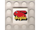 Part No: 3068bpb0172  Name: Tile 2 x 2 with Groove with Duplo Bunny Logo Pattern