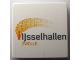 Part No: 3068bpb0217  Name: Tile 2 x 2 with Groove with Ijsselhallen Logo Pattern