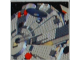 Part No: 3068bpb0235  Name: Tile 2 x 2 with Groove with Star Wars Mosaic Falcon and X-wing Pattern 13 - Falcon Gun Turret