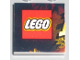 Part No: 3068bpb0244  Name: Tile 2 x 2 with Groove with Indiana Jones Raiders Pattern  1 - LEGO Logo, Start of 'I'