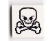 Part No: 3068bpb0310  Name: Tile 2 x 2 with Groove with Skull and Crossbones Pattern