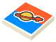 Part No: 3068bpb0353  Name: Tile 2 x 2 with Classic Space Logo on Red and Blue Background Pattern