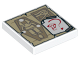 Part No: 3068bpb0676  Name: Tile 2 x 2 with Tan Parchment with Sarcophagus and Eye of Horus and White Paper with Red Gem and Question Mark Pattern
