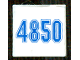Part No: 3068bpb0874  Name: Tile 2 x 2 with Groove with Blue '4850' Pattern (Sticker) - Set 4850