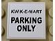 Part No: 3068bpb1127  Name: Tile 2 x 2 with Black 'KWIK-E-MART PARKING ONLY' Pattern (Sticker) - Set 71016