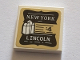 Part No: 3068bpb1172  Name: Tile 2 x 2 with White 'NEW YORK LINCOLN' on Black Background Pattern (Sticker) - Set 75827
