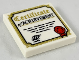 Part No: 3068bpb1209  Name: Tile 2 x 2 with 'Certificate of Achievement', Gold Border, Red Ribbon Pattern