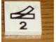 Part No: 3068pb41  Name: Tile 2 x 2 with Black Train Track Switch Point Left and Number 2 Pattern