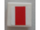 Part No: 3070bpb120  Name: Tile 1 x 1 with SW Red Rectangle Pattern (Sticker) - Set 9493