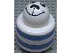 Part No: 31005pb09  Name: Primo Brick, Round Rattle 1 x 1 with Stripes Blue and Animal Face Pattern