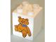 Part No: 31110pb031  Name: Duplo, Brick 2 x 2 x 2 with Teddy Bear Pattern