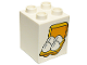 Part No: 31110pb111  Name: Duplo, Brick 2 x 2 x 2 with 4 Eggs in Box Pattern