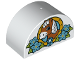 Part No: 31213pb036  Name: Duplo, Brick 2 x 4 x 2 Curved Top with Horse Head in Flowers Pattern