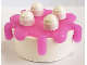 Part No: 31287c03  Name: Duplo Food Cake with Trans-Dark Pink Frosting
