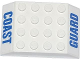Part No: 32083pb003  Name: Slope 45 6 x 4 Double with Blue 'COAST' and 'GUARD' Pattern (Stickers) - Set 60015