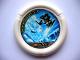 Part No: 32171pb017  Name: Throwbot Disk, Ski / Ice, 6 pips, Ski jumping away from snow creature Pattern