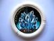 Part No: 32171pb018  Name: Throwbot Disk, Ski / Ice, 7 pips, multi-point crystal formation Pattern