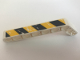 Part No: 32271pb016L  Name: Technic, Liftarm 1 x 9 Bent (7 - 3) Thick with Worn Black and Yellow Danger Stripes Pattern (Sticker) - Set 44014