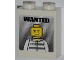 Part No: 3245cpb011  Name: Brick 1 x 2 x 2 with Inside Stud Holder with 'WANTED' and Jail Prisoner Minifigure Pattern (Sticker) - Set 7288