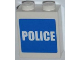 Part No: 3245cpb012  Name: Brick 1 x 2 x 2 with Inside Stud Holder with White 'POLICE' on Blue Background Pattern (Sticker) - Set 7498
