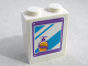Part No: 3245cpb062  Name: Brick 1 x 2 x 2 with Inside Stud Holder with Mirror and Soap Bottle Pattern (Sticker) - Set 41109