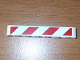 Part No: 32524pb005R  Name: Technic, Liftarm 1 x 7 Thick with Red and White Danger Stripes Pattern Model Right Side (Sticker) - Set 8198