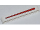 Part No: 32524pb011  Name: Technic, Liftarm 1 x 7 Thick with Red Line Pattern (Sticker) - Set 42011