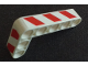 Part No: 32526pb015R  Name: Technic, Liftarm 3 x 5 L-Shape Thick with Red and White Danger Stripes Pattern Model Right Side (Stickers) - Set 42042