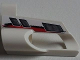 Part No: 32528pb15  Name: Technic, Panel Fairing # 6 Small Short, Large Hole, Side B with Red and Black Stripes and Vents Pattern (Sticker) - Set 8262